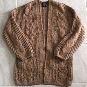 Abercrombie thick knit rust cardigan